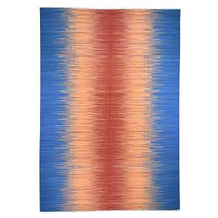 Hand Woven Durie Kilim Pure Wool Gradient Design