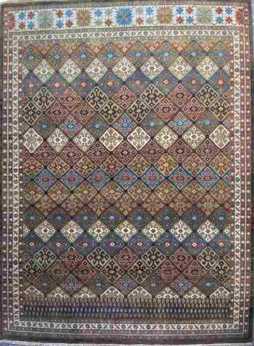 "Geometric Afshar Design Hand knotted Rug, Wool, 8' 4"" x"