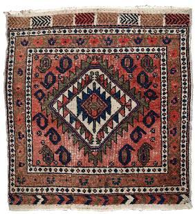 Handmade Modern Persian Kurdish bagface rug 1.8' x 1.9'
