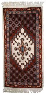 Handmade Modern Moroccan Berber rug 2.6' x 5.6' (81cm x