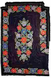 Handmade Modern American Hooked rug 3.4' x 5.4' (103cm