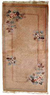 Handmade Modern Art Deco Chinese rug 2.2' x 4.5' (69cm