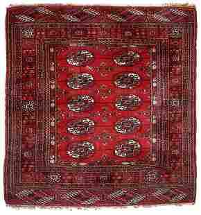 Handmade Modern Turkmen Tekke rug 3.5' x 3.6' (109cm x