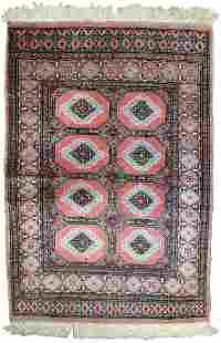 Handmade Modern Uzbek Bukhara rug 2.6' x 3.8' (81cm x