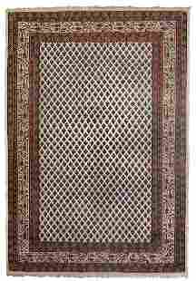 Handmade Modern Indian Seraband rug 4' x 6' (124cm x