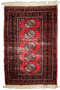 Handmade Modern Pakistani Lahore distressed rug 2.4' x
