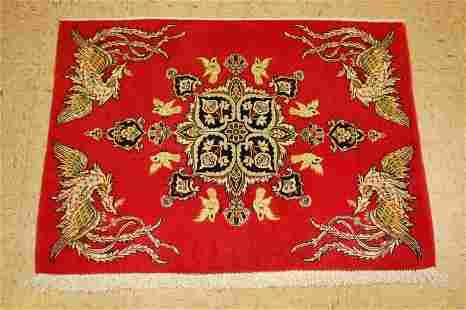 Cir 1910s Modern CAUCASIAN PANEL KILIM 3.3x14.2 NATURAL