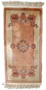 Handmade Modern Art Deco Chinese rug 2.2' x 4.8' (69cm