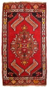 Handmade Modern Turkish Yastik rug 1.6' x 3.1' (50cm x