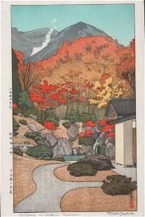 Toshi Yoshida (1911-1995)/ Autumn In Hakone Museum