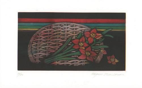 Shigeru Narikawa (B. 1945)/ Basket With Flowers
