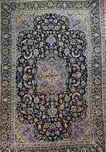 1950s Persian Nain, Wool, 8'x12' rug