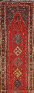Antique Vegetable Dye Heriz Bakhshayesh Runner Rug 3x14