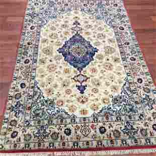 Fine quality silk and wool Persian Esphahan Rug-4509