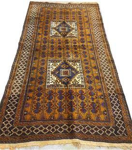 Antique Afghan Baluchi Rug Carpet very Old