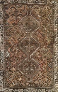 Vintage Shiraz Persian Wool Rug 4x5