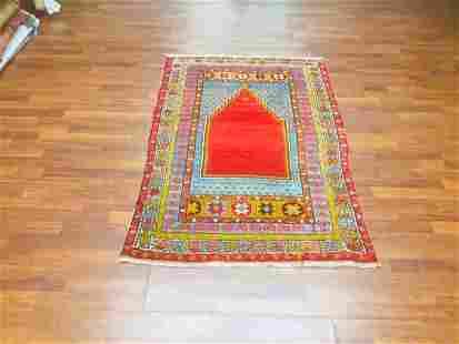 Vintage Turkish Prayer mujar rug-1842