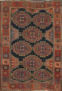 1920 Antique Vegetable Dye Bidjar Persian Rug 4x6