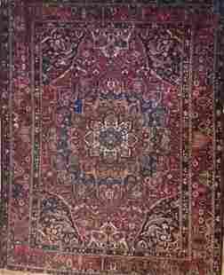 1980s Vintage Persian Bakhtiari Hand Knotted Rug, Wool,