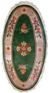 Handmade antique Art Deco Chinese rug 2.6' x 5.2' (81cm