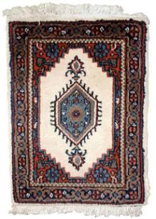 Handmade vintage Persian Hamadan rug 1.3' x 1.9' (41cm