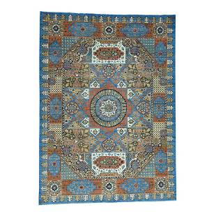 Hand-Knotted Mamluk Design Peshawar Oriental Rug