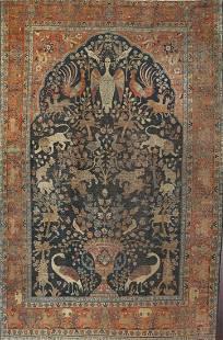 1930 Antique Tabriz Persian Area Rug 10x13