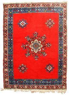 Handmade vintage Moroccan Berber rug 5.6' x 7.9' (170cm