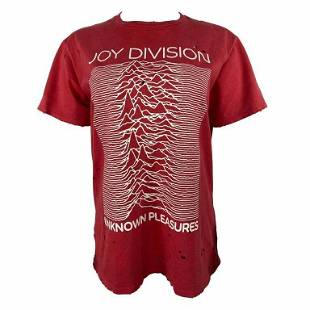 R13 Joy Division Red and White Graphic T-shirt, Size