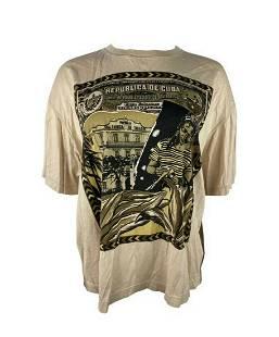 Vintage Byblos Beige Graphic T-shirt, Size Medium