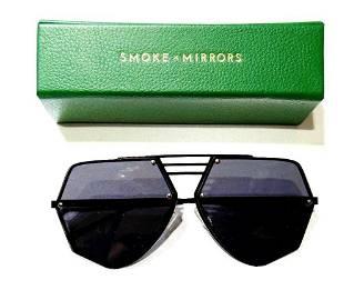 SMOKE AND MIRRORS Black Sunglasses w/Case