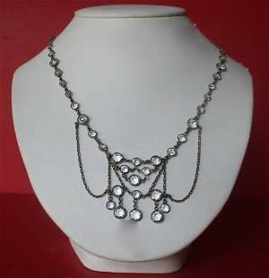 Vintage 19-Inch Crystal Bead Necklace