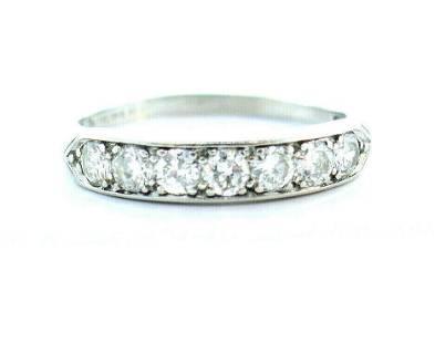 Edwardian Platinum Diamond Wedding Band
