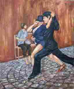 Roya Mansourkhani, Argentine Tango, Oil, 60†x 48â€