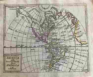Western Hemisphere, RARE Swedish issue by A. Akerman