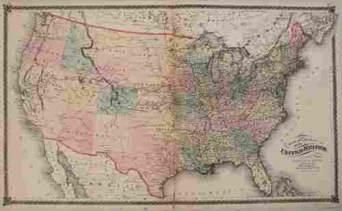 1875 Warner & Beers United States Railroad Map --