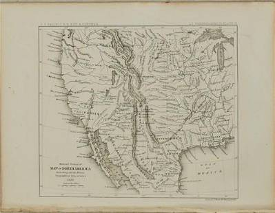 1861 Map of Western US -- Reduced Section of North