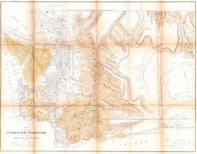 Map of a Part of Washington Territory to Accompany