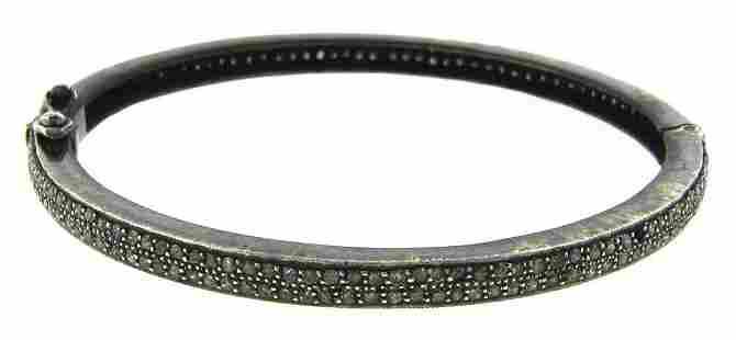 LOVELY Indian Style Silver & Diamond Bangle MODERN!