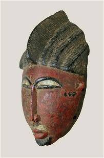 A hollowed Baule mask