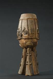 A single-headed Urhobo drum