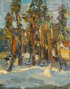 Oil painting End of winter Dupliy Sergey Alexandrovich