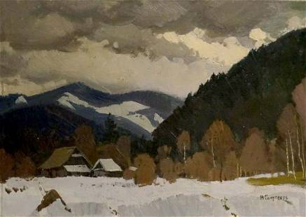 Oil painting Carpathians Volobuev Evgeny Vsevolodovich