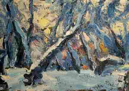 Oil painting Winter landscape Dupliy Sergey