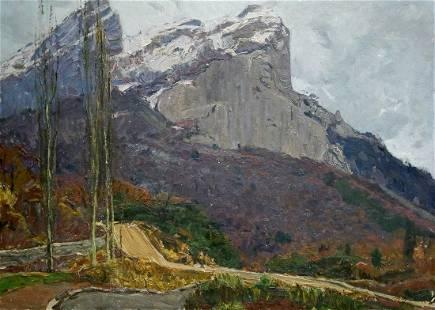 Oil painting Mountain landscape Peter Kuzmich