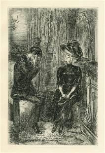 John Sloan original etching | Of Human Bondage