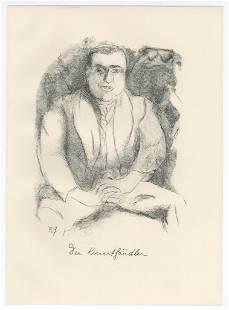 "Rudolf Grossmann original lithograph ""Der Kunsthandler"""