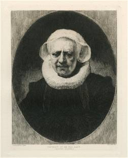 "Rembrandt van Rijn (after) ""Portrait of an Old Lady"""