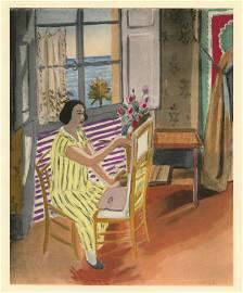 "Henri Matisse ""La seance du matin"" pochoir"