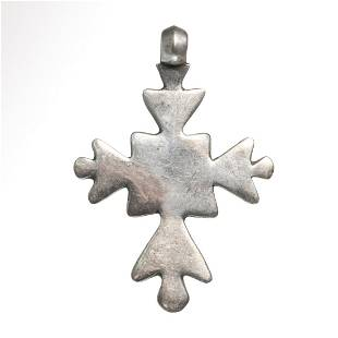 Crusaders Silver Cross, c. 10th- 11th Century A.D.